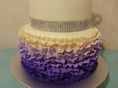 Purple Ombre ruffle design