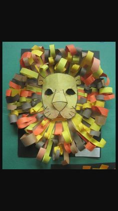Const. Paper Lion mask/decoration!
