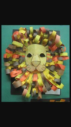Const. Paper Lion mask/decoration!