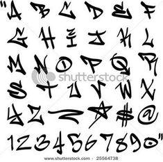 Graffiti Font Alphabet Letters Hip Hop Type Grafitti Design