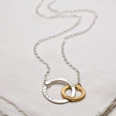 Personalised Entwined Hugs Necklace