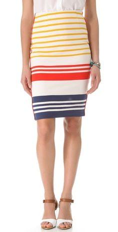 cute striped pencil skirt