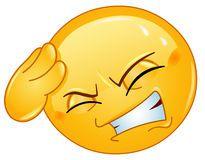 Emoticon Headache Images libres de droits