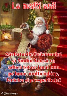 Felicitari de Craciun - La mulți ani! Merry Christmas, Christmas Gifts, Christmas Ornaments, Spirit, Entertaining, Holiday Decor, Happy, Cards, Holidays