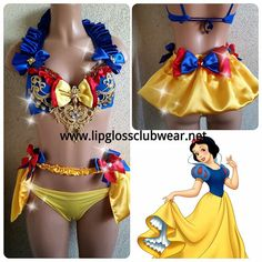 Snow White inspired Rave Costume Design 2 for Raves - Music Festivals - Exotic Costume- Halloween - DanceWear- Rave Outfit Rave Costumes, Burlesque Costumes, Adult Costumes, Cosplay Costumes, Ashley Clothes, Concert Wear, Exotic Dance, Rave Festival, Beautiful Costumes