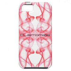 SOLD: Silhouette of Colored Smoke Abstract red on white #iPhone5/5S #Cases #phonecases