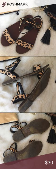 Steve Madden Leopard Sandals Used condition! Send me an offer and I'll be glad to accept. Fast shipping. Steve Madden Shoes Sandals