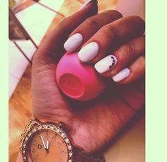 Nails eos long pink white long square