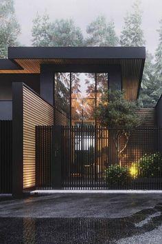 Architecture House Design The Best Dream House Exterior Ideas - House Topics Dream Home Design, Modern House Design, Modern House Exteriors, Modern Wood House, Big Modern Houses, Modern Fence Design, House Gate Design, Kitchen Modern, Yard Design