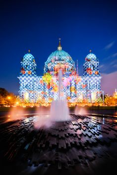 for 4 days every october, there is the Festival of Light (FOL) in BERLIN. Here: Berliner Cathedral - Berlin - Germany (ill-padrino)