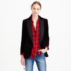 Collection velvet shawl-collar tuxedo blazer : novelty | J.Crew