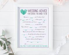 bridal shower mad libs – Etsy