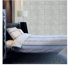 Concrete Brick Effect Home Deco Prepasted Vinyl Wallpaper 21.5 sqfeet #Magicfix