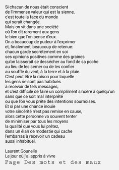 et SI.on se parlait. French Poems, French Phrases, French Quotes, Text Quotes, Words Quotes, Life Quotes, Motivational Quotes, Inspirational Quotes, Love Letters