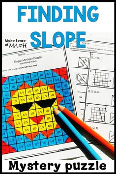 Check out this fun finding slope activity.  Great for the Algebra 1 or middle school math classroom. Students will find the slope of a line from an equations, graph, table and given points.  Aligned to the common cores you students will love learning about slope with this great product.  #makesenseofmath #slope Fun Math Activities, Kids Math Worksheets, Math Resources, Algebra 1, Algebra Games, Math Games, Math Classroom, Classroom Decor, Maths