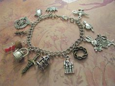 ONCE UPON A Time In Wonderland Charm Bracelet  13 by ZivaKreations, $32.00