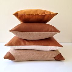 Tan leather cushions