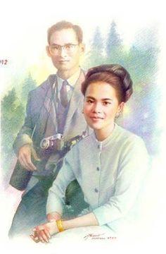 Our Beloved King & Queen King Of Kings, My King, King Queen, King Thai, King Rama 9, Queen Sirikit, Bhumibol Adulyadej, Great King, Great Leaders