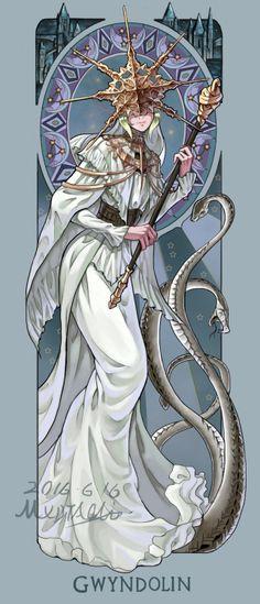 Art of Dark Souls : Photo Gwyndolyn Character Concept, Character Art, Concept Art, Arte Dark Souls, Pokemon, Soul Art, Character Design Inspiration, Monster, Fantasy Characters