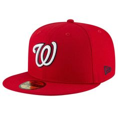 Washington Nationals New Era Team Superb 59FIFTY Fitted Hat - Red dd95e8c40