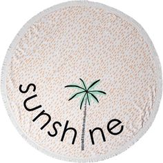 Lolli Sunshine Towel (Palm Tree) ($60) ❤ liked on Polyvore featuring home, bed & bath, bath, beach towels, olive, lolli swim, round beach towel and circular beach towel