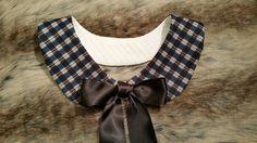 Plaid Detachable Peter Pan Collar, Necklace, Lady Bib Necklace, Statement Necklace, Neck Accessories
