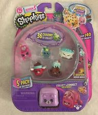 Electric Glow Shopkins S5 5 Pack Charm Bracelet Toy Figures Playset By Shopkins