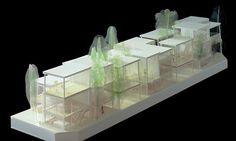 Shakujii Apartment by Kazuyo Sejima + Ryue Nishizawa / SANAA in Tokyo Sanaa Architecture, Architecture Model Making, Tropical Architecture, Architecture Drawings, Residential Architecture, Interior Architecture, Cluster House, Ryue Nishizawa, Model Tree