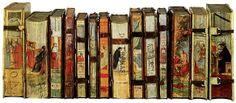 Bellissimi i tagli di questi libri dipinti dal pittore Cesare Vecèllio, figlio di Ettore cugino del noto Tiziano, (Italia 1521 - Venezia 1601). I 17 volumi, parte della collezione della Biblioteca Piloni (Pillone Library) nella Villa Casteldardo di Trichiana (BL, Italia), furono messi all'asta da Christie's a Londra l'8 giugno 2011 per circa 1 milione e mezzo di euro.