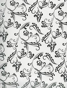 baroque pattern paper Black and White