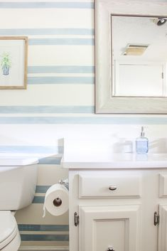Home Decoration Mirror Blue and White Bathroom Remodel - bathroom makeover on a budget. Decoration Mirror Blue and White Bathroom Remodel - bathroom makeover on a budget. Home Decor Quotes, Home Decor Signs, Home Decor Styles, Home Decor Accessories, Home Decor Near Me, Quirky Home Decor, Cozy Home Decorating, Interior Decorating, Decorating Ideas