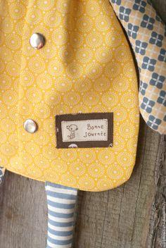 Купить Пижамница Мишка - желтый, мишка, Пижамница, текстильный мишка, для детей, для детской, для детской комнаты
