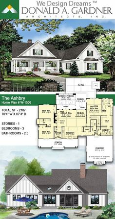 House Plans The Ashbry Home Plan 1506 The Ashbry house plan 1506 Urban Farmhouse Home Plan The Ashbry This quintessential urban farmhouse features a board-and-batten exterior with a metal accent roof and a welcoming front porch 2187 sq ft Family House Plans, New House Plans, Dream House Plans, Modern House Plans, Home Plans, Farmhouse Floor Plans, Urban Farmhouse, Craftsman House Plans, Craftsman Interior