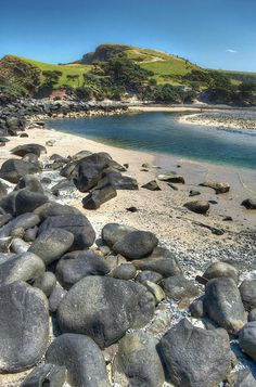 Mapuzi River Mouth ('Place of Pumpkins' in Xhosa) in the Transkei, Eastern Cape, South Africa Places To Travel, Places To See, Places Around The World, Around The Worlds, River Mouth, Namibia, Out Of Africa, Africa Travel, Continents