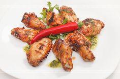 Skrzydełka kurczaka po teksańsku Grilled Chicken, Tandoori Chicken, Photo Grill, Tasty, Yummy Food, Chicken Wings, Grilling, Spicy, Food And Drink