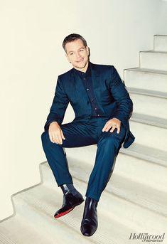 Matt Damon Poses for The Hollywood Reporter, Talks Bourne Franchise