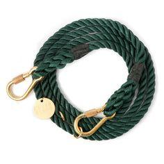 Hunter Green Rope Dog Leash, Adjustable | Foundmyanimal.com