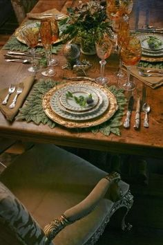 Lovely - I like the idea of deep amber and greens for a wedding reception.