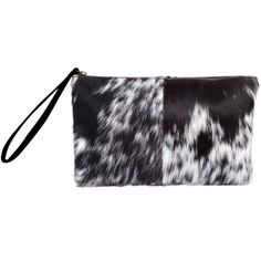 MAHI Leather - Classic Clutch Bag In Animal Print & Pony Fur (960 SEK) ❤ liked on Polyvore featuring bags, handbags, clutches, man bag, handbags totes, zip tote, fur clutches and animal print handbags