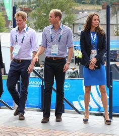 July 29, 2014 - Prince Harry, Prince William, Duke of Cambridge and Catherine, Duchess of Cambridge arrive at Hampden Park for the athletics on day six of the Commonwealth Games in Glasgow, Scotland.