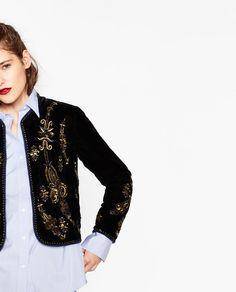 EMBROIDERED JACKET-Jackets-OUTERWEAR-WOMAN | ZARA United Kingdom