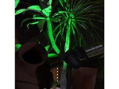 refletor led solar luminária jardim spot 6xluz verde-branca