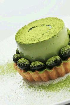 greentea tiramisu tart
