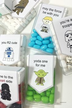 Printable Star Wars Valentine's stickers for Tic Tacs - so cute!