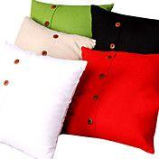 Linen Solid Color Cushion Cover (bottom closu... – USD $ 12.99