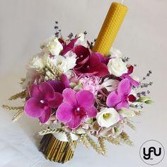 Lumanare de botez cu orhidee grau si bujori _ lumare din ceara naturala _ yau concept _ elena toader (2)