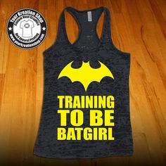 Training To Be Batgirl Batman Tank Top by YourKreationShop