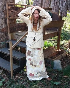 Patchwork is where my love of handmade began. Plus, I love a ruffle or two. Pockets have always been a must.  When I was young, I was the sun, Shining through the trees down to the ground.  When I was young, I was a mountain, Knew all the birds and I shared their vision.  When I was young, I was a river, Flowing through the mountains down to the sea.  When I was young, I was the ocean, Held all my friends right to the end.  I am, I am, I am, I am I am, I am, I am, I am.  #adornyoursoul…