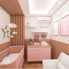 "1,512 curtidas, 17 comentários - Simone Menezes (@oquetemnoquartodonenem) no Instagram: ""A proposta do @espacoconcreto para o quarto do bebê"" Baby Bedroom, Baby Room Decor, Nursery Room, Girls Bedroom, Bedroom Decor, House Shelves, Baby Room Design, Decoration Inspiration, Dream Furniture"