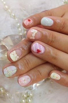 Beautiful summer nail ideas for girls.